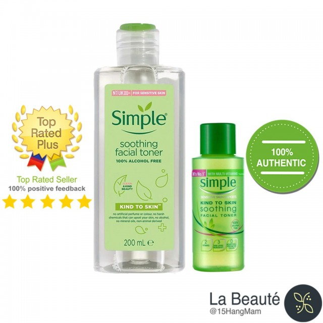 Simple Kind To Skin Soothing Facial Toner - Toner Dành Cho Nhạy Cảm